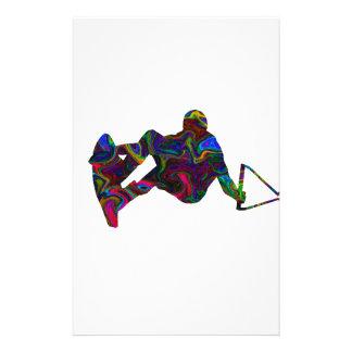 Wakeboarder-wilde Farben Briefpapier