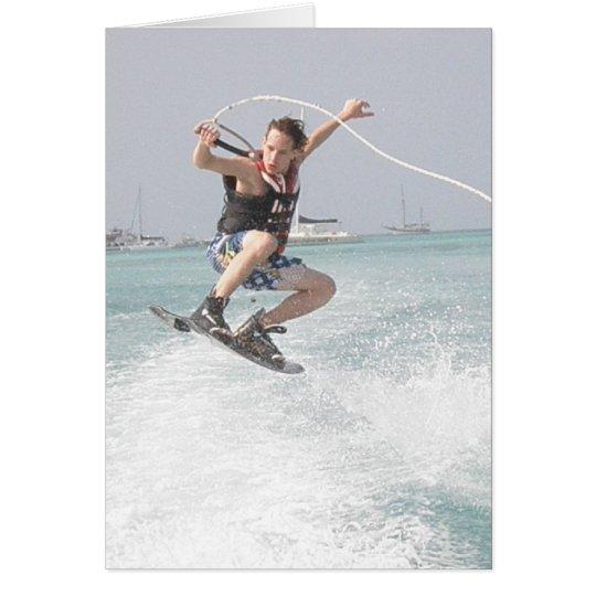 Wakeboarding Gruß-Karte Grußkarte