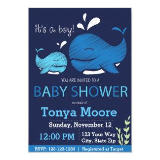 Wal-Babyparty-Einladung (Junge) 12,7 X 17,8 Cm Einladungskarte