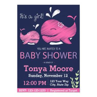 Wal-Babyparty-Einladung (Mädchen) Karte