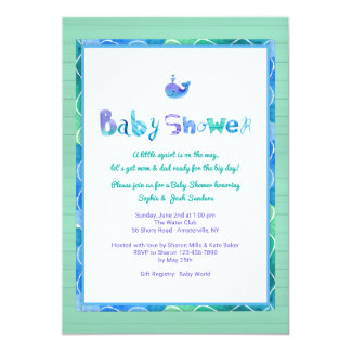 Wal einer Duschen-Einladung Karte