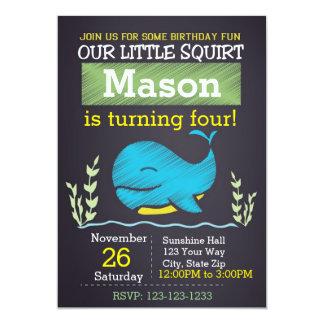 Wal-Geburtstags-Einladung (Junge) 12,7 X 17,8 Cm Einladungskarte