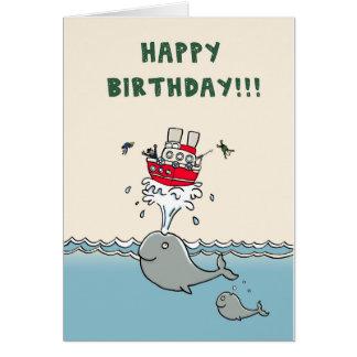 Wal-Geburtstags-Karte Grußkarte