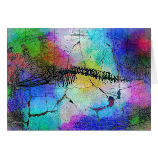 Wal-Knochen in der Psychedel Gruß-Karte (freier Grußkarte