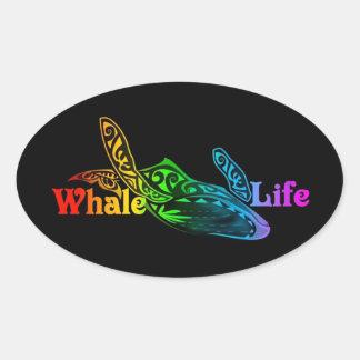 Wal-Leben Ovaler Aufkleber