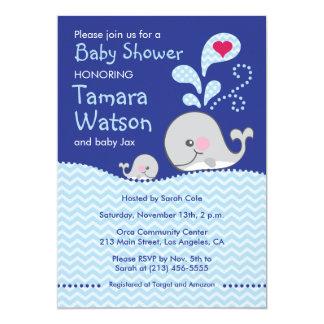 Wal-Mama und Baby-Liebe - Baby-Duschen-Einladung Karte