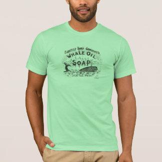 Wal-Öl-Seifen-Vintager Retro T - Shirt
