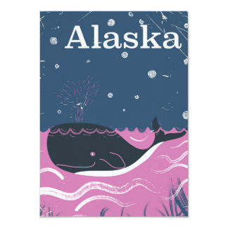 Wal-Reiseplakat Alaska-Cartoon Vintages Karte