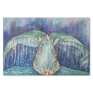 Wal-Schwanzgewebe Seidenpapier