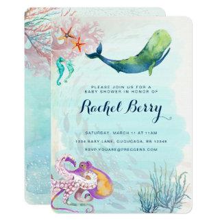 Wal-SeeBabyparty laden ein 12,7 X 17,8 Cm Einladungskarte