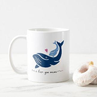 Wal-Tasse, i-Liebe Sie Mutter, Tier-Kaffee-Tasse Kaffeetasse