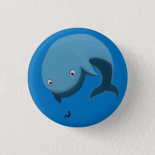 Wal und Otter Runder Button 3,2 Cm