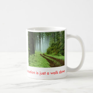 Wald, Entspannung ist gerade ein Weg hinunter Tasse