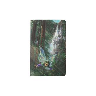 Wald Faires und Wasserfall-Schloss Moleskine Taschennotizbuch