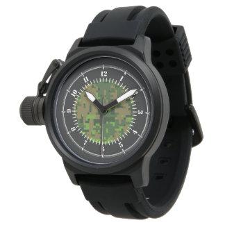Waldart-Grün-Digital-Tarnungs-Uhr Uhr