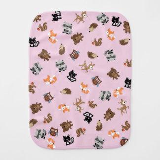 Waldbaby-Breihohes Burp-Stoff *Pink Baby Spucktuch