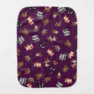 Waldbaby-Breihohes Burp-Stoff *Purple Baby Spucktuch