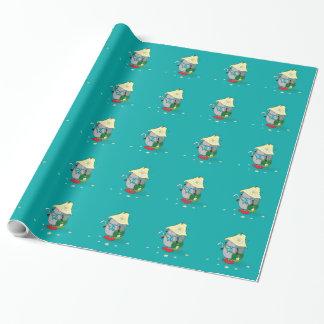 Walddruide-Igel Geschenkpapier
