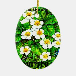 Walderdbeerefragaria vesca ovales keramik ornament