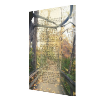 WaldFoto-christliche Bibel-Vers-Wand des Psalm-91 Leinwanddruck