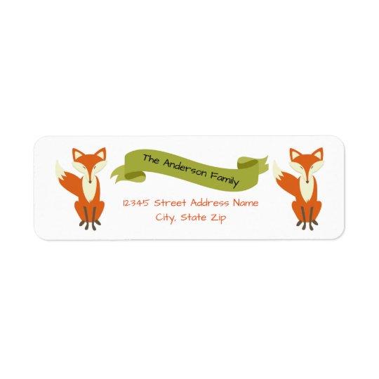 WaldFox - Adressen-Etiketten Rücksende Aufkleber