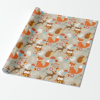 Waldgeschöpfe Einpackpapier