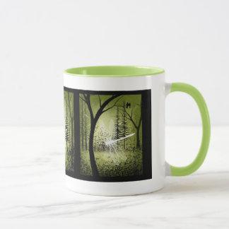 Waldgrün-Baum-Kunst-GetränkeTasse Tasse