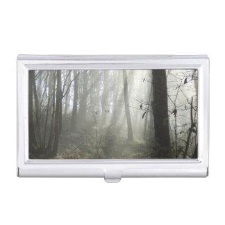 Waldmorgen-Nebel-Visitenkarte-Halter Visitenkarten Etui