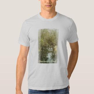 Waldnebenfluss-Landschaftsvatertag Tshirts