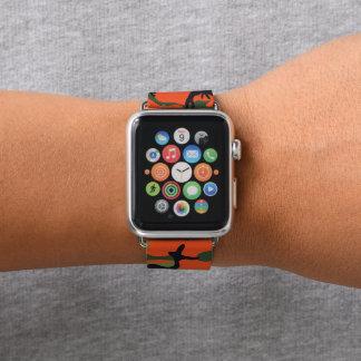 Waldorange und grüne Tarnung. Ihre Camouflage Apple Watch Armband