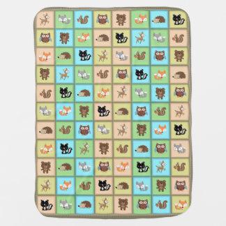 WaldPatchwork-Baby-Tiere Quiltlike Decke