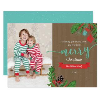 Waldschnee-WeihnachtsFoto-Karte 12,7 X 17,8 Cm Einladungskarte