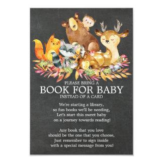 Waldtier-neutrales Babyparty-Buch für Baby Karte