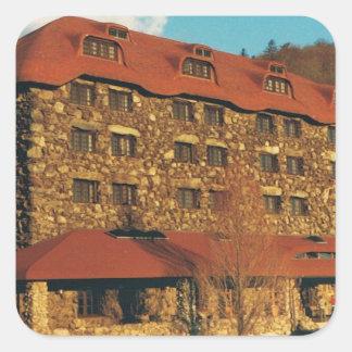 Waldungs-Park-Gasthaus-Aufkleber Quadratischer Aufkleber