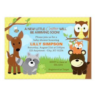 Waldwaldfreund-Babyparty-Einladungen Einladung