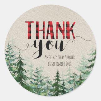 Waldwaldholzfäller danken Ihnen Aufkleber