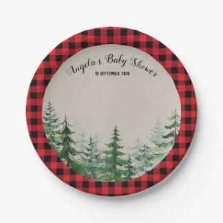 Waldwaldholzfäller-Party-Papier-Teller Pappteller