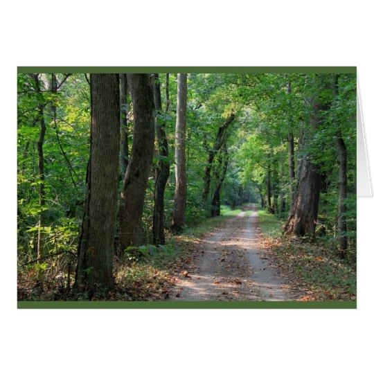 Waldweg-Jahrestagskarte Grußkarte