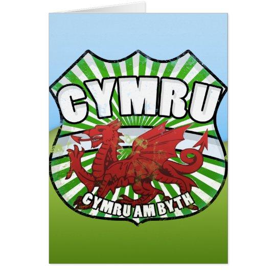 Wales - Cymru - Cymru morgens byth Karte