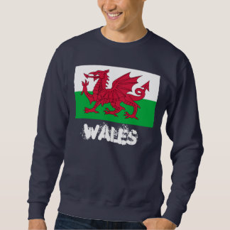 Wales mit Waliser-Flagge Sweatshirt