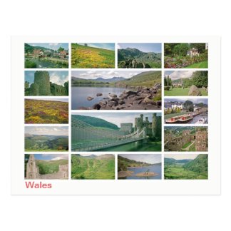 Wales Multibild Postkarte