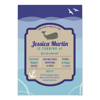 Walgeburtstag Einladungs-Spaß-Seeozean laden ein Karte