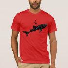 Walhaischwimmen - Weiß hinterer Signage T-Shirt