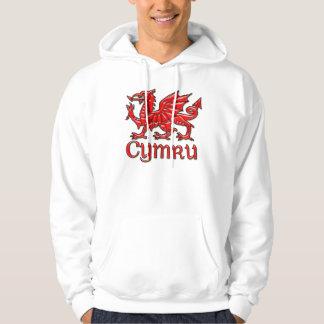 Waliser-Drache Cymru Hoodie Wales, St David Tag