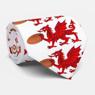 Waliser-Drache mit einer Rugby-Ball-Hals-Krawatte Krawatte