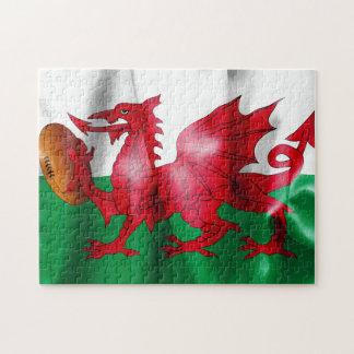 Waliser-Drache-Rugbyball-Flagge