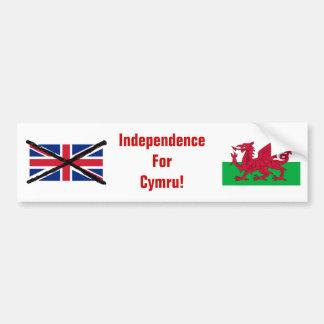 Waliser-Unabhängigkeits-Autoaufkleber Autoaufkleber