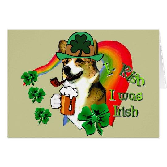 Walisercorgi-Heiligen Patrick Tag Grußkarte