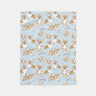 WaliserCorgipembroke-Hundewelpen-Muster Fleecedecke