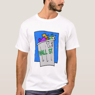Wall Street-Abfall-Abbruch T-Shirt